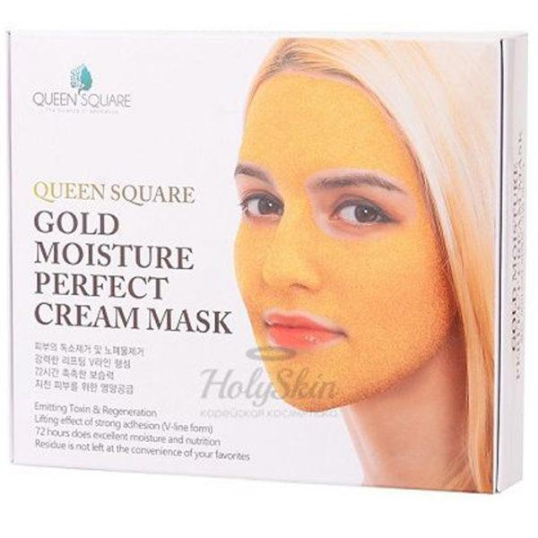 Маска для лица антивозрастная с золотом Gold Moisture Perfect Cream Mask 50гр х 4шт