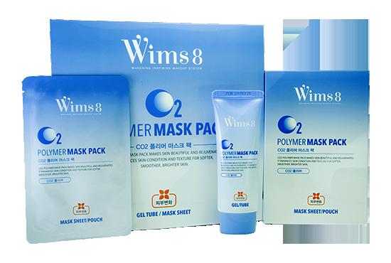 Маска для карбокситерапии Polymer Mask pack CO2 5шт. Wims8 Корея