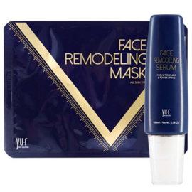 Моделирования овала лица Face Remodeling Mask сыворотка + 8 масок Yu.r Корея