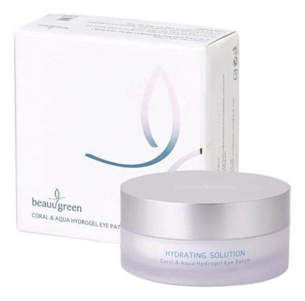 Патчи для глаз с экстрактом коралла и морской водой Hydro gel Coral & Aqua Eye Patch, premium pack 60 шт. BeauuGreen Корея