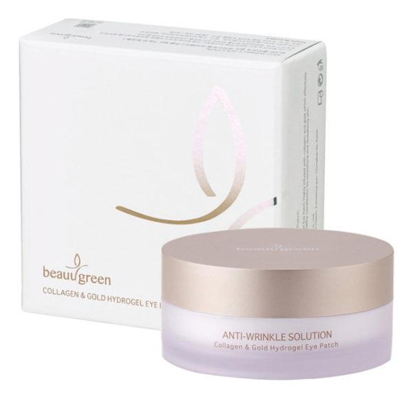 Патчи для глаз с колллагеном Hydrogel Collagen & Gold Eye Patch, premium pack 60 шт. BeauuGreen Корея