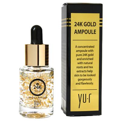Сыворотка омолаживающая с 24К золотом Premium 24K Gold Ampoule Yu.R Корея