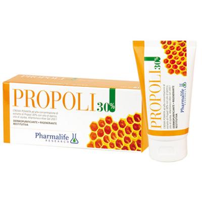 Противовоспалительный фитокрем при акне и для жирной кожи с прополисом Propoli 30% 75 мл Pharmalife Италия