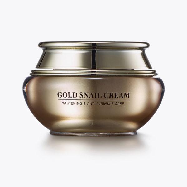 Крем на основе коллоидного золота Gold Snail Cream 50гр Gold Energy Snail Synergy Корея