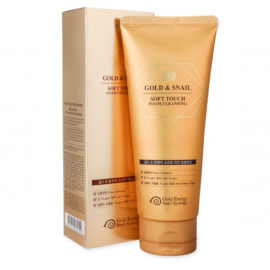 Пенка очищающая Gold Snail Foam Cleansing 170 гр Gold Energy Snail Synergy Корея