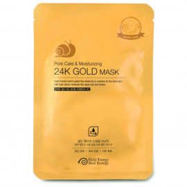 Маска для лица увлажняющая Gold Snail Pore Care & Moisturizing Mask 10 шт Gold Energy Snail Synergy Корея