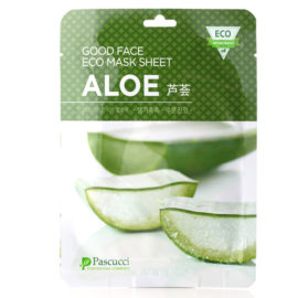 Маска с экстрактом алоэ Pascucci Good Face Eco Mask Sheet Aloe, 10 шт.  Amicell Корея