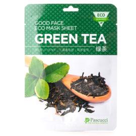 Маска с экстрактом зеленого чая Pascucci Good Face Eco Mask Sheet Green Tea 10 шт.  Amicell Корея