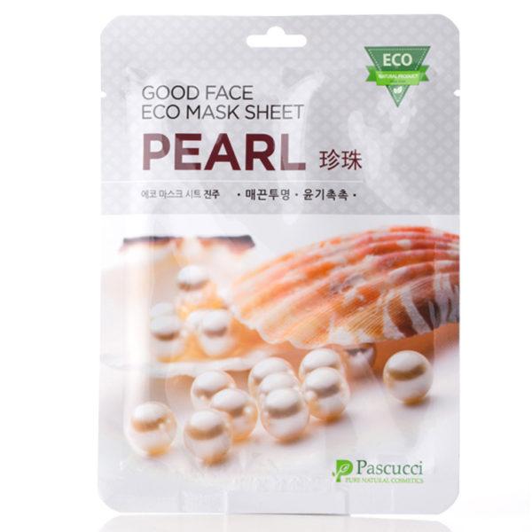 Маска с экстрактом жемчуга Pascucci Good Face Eco Mask Sheet Pearl 10 шт. Amicell Корея