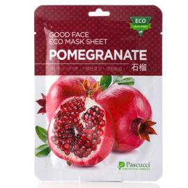Маска с экстрактом граната Pascucci Good Face Eco Mask Sheet Pomegranate 10 шт.  Amicell Корея