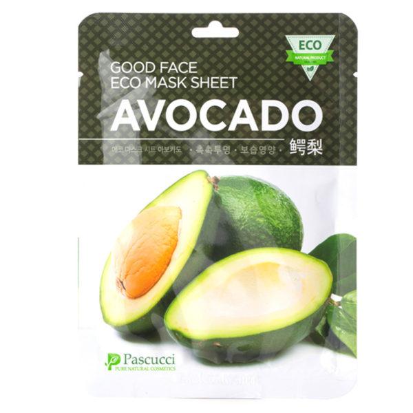 Маска с экстрактом авокадо Pascucci Good Face Eco Mask Sheet Avocado 10 шт. Amicell Корея