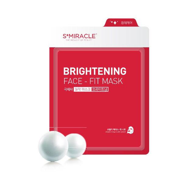 Маска для осветления и выравнивания тона лица Brightening Face-Fit Mask Корея