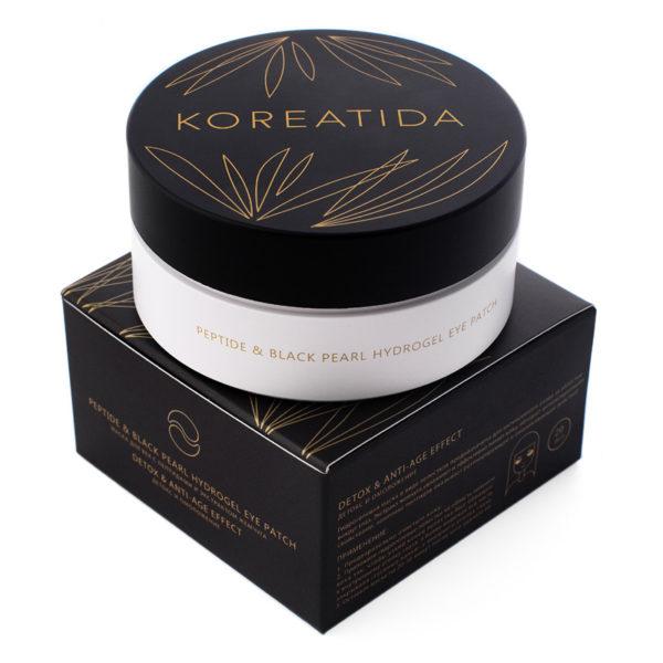 Маска для век с пептидами и экстрактом жемчуга Peptide & Black Pearl Hydrogel Eye Patch KOREATIDA Корея
