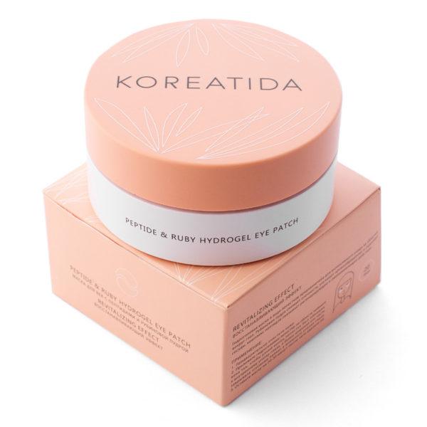 Маска для век с пептидами и рубиновой пудрой Peptide & Ruby Hydrogel Eye Patch KOREATIDA Корея
