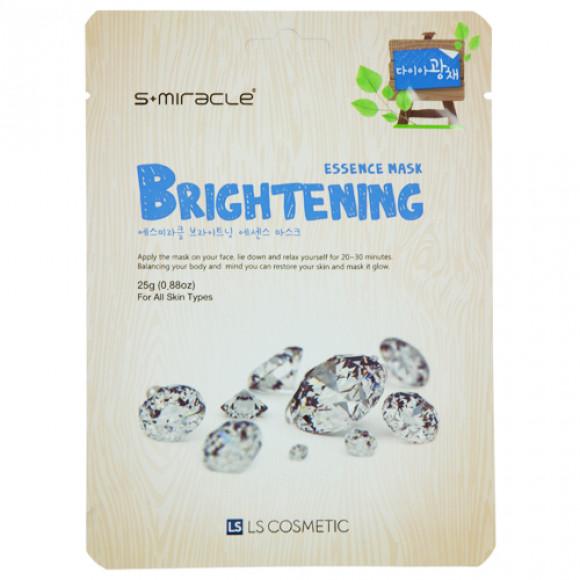 Маска для лица сияние кожи Brightening Essence Mask 10 шт. S+miracle Корея
