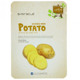 Маска для лица с экстрактом побегов картофеля Potato Essence Mask 10 шт. S+miracle Корея