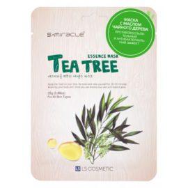 Маска для лица с экстрактом чайного дерева Tea Tree Essence Mask 10 шт. S+miracle Корея