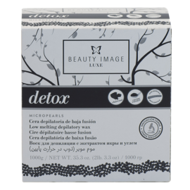 Горячий воск в гранулах Detox с экстрактом икры и углем With caviar extract and charcoal 1000г Beauty Image Испания