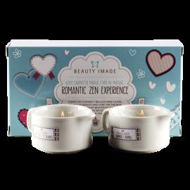 Набор массажного масла свечей «Бамбук и белый чай» Romantic Zen Experience 2х35гр Beauty Image Испания