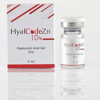 Биоревитализант HyalCode Zn 1,0% гиалуроновая кислота 1000–1200 кДа (1,0%), хлорид цинка 1 фл. (5 мл) Россия