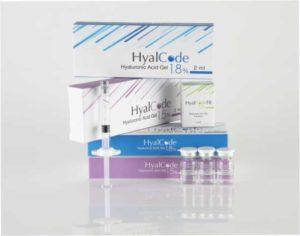 Биоревитализирующие препараты на основе сверхчистой гиалуроновой кислоты Hyal Code